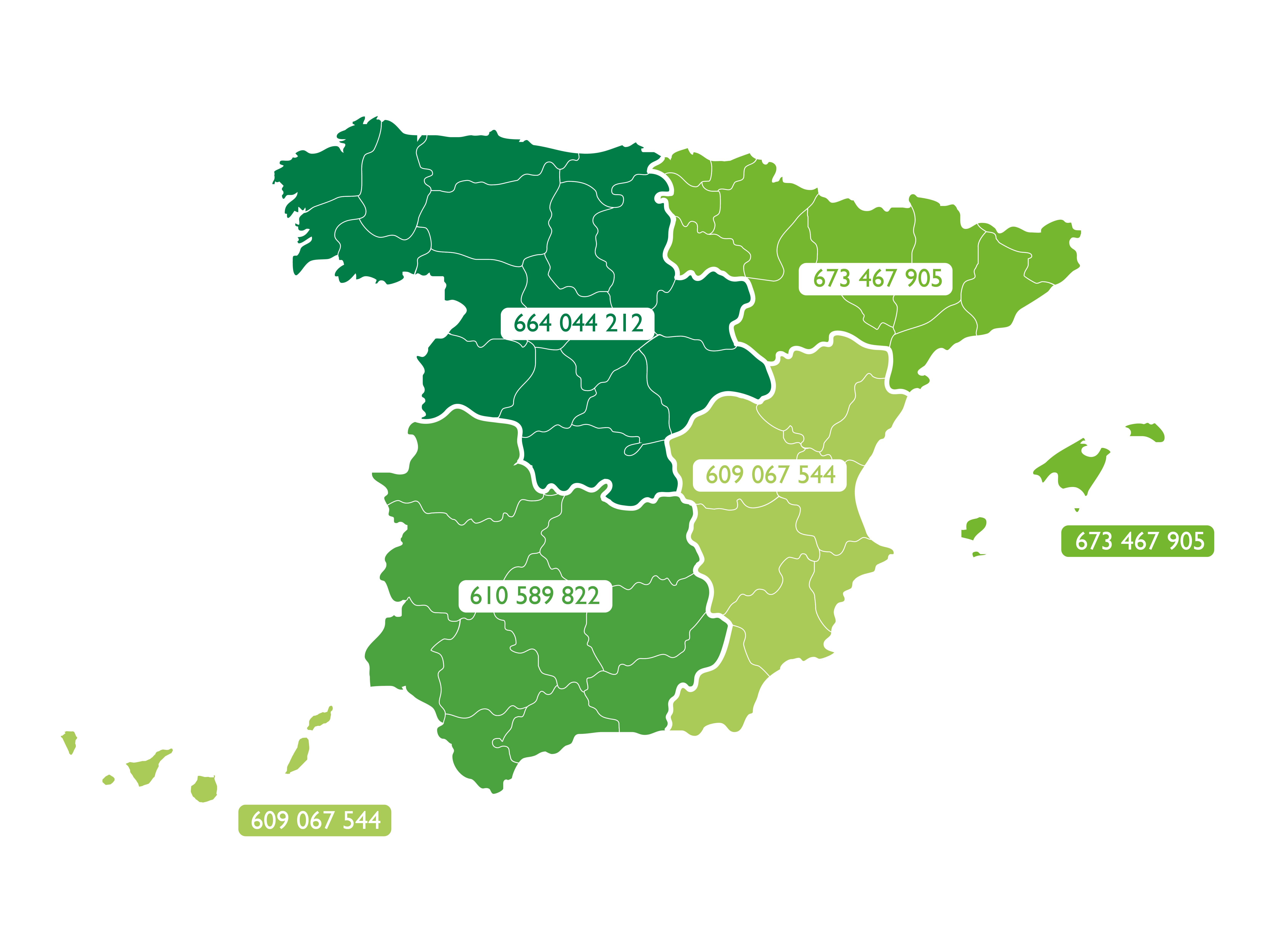 Mapa Sipcam España